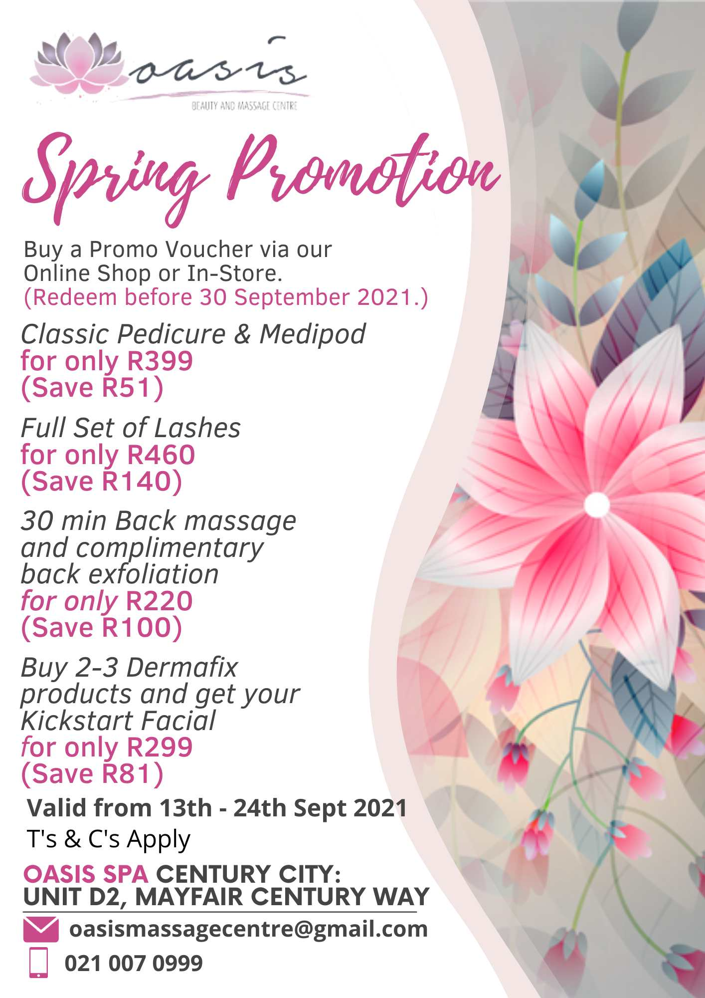 Spring promotion 2